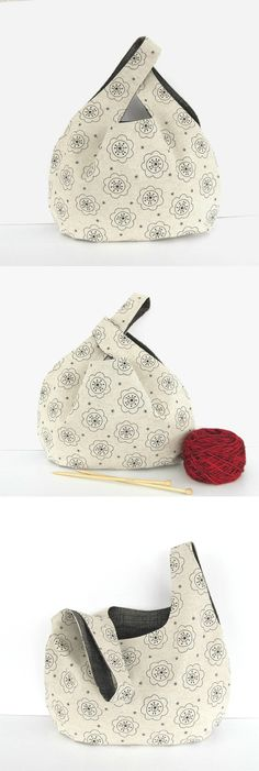 Ladies Knot handbag, to carry you through the day or use as a knitting bag, tote bag