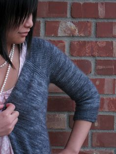 Cardigan worked from the top in one piece - Pattern by Heidi Kirrmaier, on Ravelry.