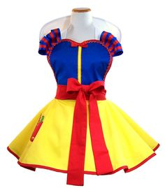 Snow White Apron Snow White Costume Apron by WellLaDiDaAprons