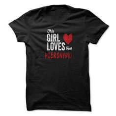 nice I love HIERONYMUS Name T-Shirt It's people who annoy me
