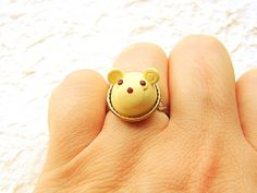 Kawaii Food Ring White Chocolate Bear Cake by SouZouCreations, $10.00