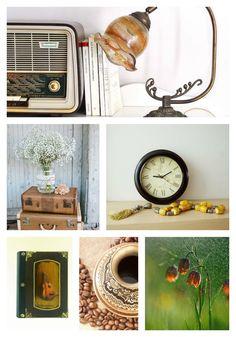 Monday Moodboard: Vintage full of music! #moodboard #vintage #music #ρεμπετικο #handmade
