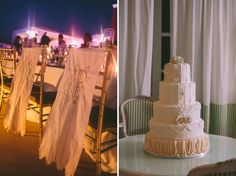 Mr & Mrs Wedding Chair Covers by Stella And Moscha Wedding Cake Photos, Amazing Wedding Cakes, Wedding Cakes With Flowers, Destination Wedding Decor, Budget Wedding, Santorini Wedding, Mr And Mrs Wedding, Diy Cake, Wedding Chairs