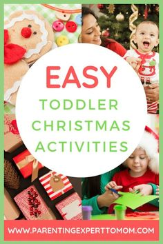 Christmas Activities for Toddlers: These Christmas activities and ideas are perfect for busy moms. Celebrate the Christmas season with your toddler by making holiday treats and doing simple crafts. Christmas Activities For Toddlers, Creative Activities For Kids, Easy Crafts For Kids, Holiday Activities, Toddler Crafts, Simple Crafts, Kid Crafts, Xmas Crafts, Advent Activities