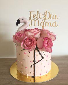 Flamingo Party, Flamingo Cake, Flamingo Birthday, Cupcake Videos, 4th Birthday Cakes, Wooden Cake Toppers, Girly Cakes, Sea Cakes, Fondant Decorations