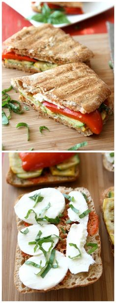 Grilled Italian Panini Recipe with Zucchini, Summer Squash and Basil ...