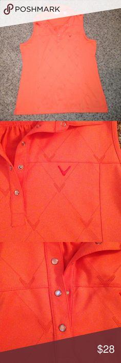 Callaway XL women's golf tank. Like new. Callaway XL women's golf tank. Like new. Orange in color. Callaway Tops Tank Tops