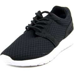 Dream Pairs Dream Pairs 5004-W Round Toe Synthetic Running Shoe  ... ($28) ❤ liked on Polyvore featuring shoes, athletic shoes, black, small heel shoes, faux shoes, running shoes, black shoes and black running shoes