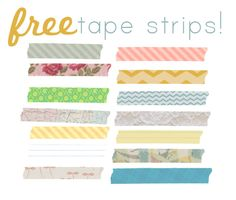 9 SETS OF FREE DIGITAL TAPE STRIPS