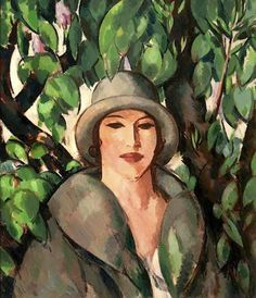 In the Boltons- The Artist's Wife by John Duncan Fergusson