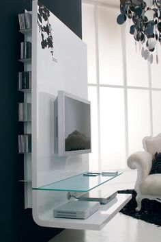 Contemporary TV shelving unit - contemporary - media room - london - by Imagine Living