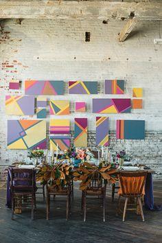 geometric wedding ideas, photo by Alexandra Whitney, styling by Juniper & Dash http://ruffledblog.com/mixed-metal-geometric-inspiration #geo #weddingideas #geometric