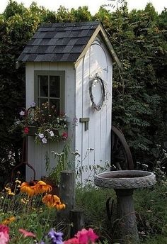 Shed DIY - Garden Sheds - this post has lots of clever shed ideas - different styles and materials used - via FleaChic - Flea Market Savvy Now You Can Build ANY Shed In A Weekend Even If You've Zero Woodworking Experience!