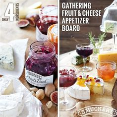 Discover your favorite fruit pairings with our Gathering Fruit & Cheese Appetizer Board.