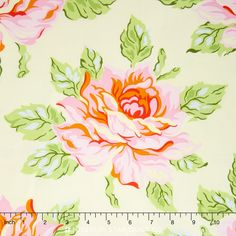 Nicey Jane - Hello Roses Cream Yardage Heather Bailey, Free Spirit Fabrics, Missouri Star Quilt, Cream Roses, Star Quilts, Laundry Room, Curtains, Prints, Cotton
