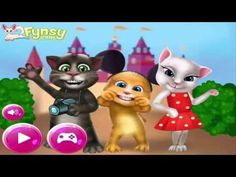 My Talking Angela and friends: Talking Tom Kinder Surprise - Tom And Ang...