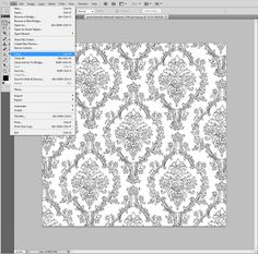 make a custom pattern in photoshop and use to fill line art