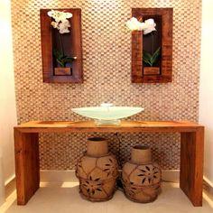 Móvel Aparador Reto Madeira de Demolição Natural 1.40m Decor, Home Diy, Entry Table, My Ideal Home, Wall Decor, Bathroom Decor, Sala, Diy Home Decor, Home Decor