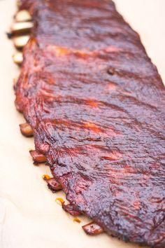 """How to make competition style smoked pork ribs, and an explanation of the """"3-2-1 Method"""" of smoking ribs."""