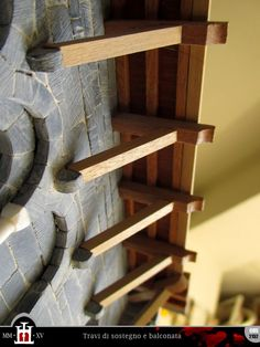 Building of a medieval house in scale 1:50
