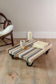 DIY deco pas cher : construire une table basse avec des planches en bois - CôtéMaison.fr