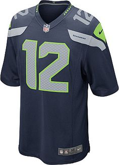Who are you rooting for this Superbowl? NIKE Men's Seattle Seahawks 12th Fan Game Team Color Jersey