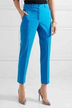 Michael Kors Collection - Samantha Stretch-wool Slim-leg Pants - Blue - US12