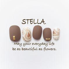 再販10♡秋なペイズリー♡ブラウンネイル Toe Designs, Cute Nail Designs, Manicure Y Pedicure, Shellac Nails, Love Nails, My Nails, Summer Holiday Nails, Japanese Nail Art, Fabulous Nails