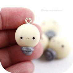 #kawaii #charms #polymer #clay #lightbulb