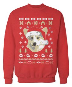 Corgi Apparel - The perfect ugly Christmas sweater for people who love Corgis! A great holiday gift!