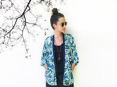 Summer Kimono Beach Cover Up Summer Cardigan by ALUMAhandmade
