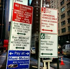 NYC's new parking signs are great information design. Jan. 2013
