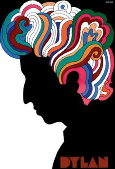 The secret to Milton Glaser's now-iconic depiction of Bob Dylan? Not working with Bob Dylan. Milton Glaser, Posters Vintage, Retro Poster, Poster S, Poster Fonts, Vintage Logos, Poster Layout, Retro Logos, Psychedelic Art