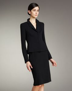 Double-Face Pencil Skirt by Akris at Neiman Marcus.