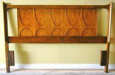 Love this set... Mid Century Modern Broyhill Basilia Headboard.
