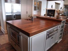 Custom Walnut Kitchen Island Countertop in Columbia Maryland https ...