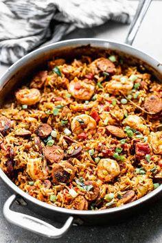 Shrimp And Sausage Jambalaya, Jambalaya Rice, Chicken And Sausage Jambalaya, Shrimp Jambalaya Recipe Easy, Zatarains Jambalaya, Louisiana Recipes, Cajun Recipes, Seafood Recipes, Cooking Recipes