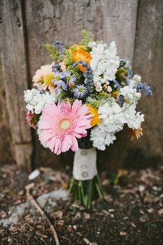 cheery bouquet, photo by Q Avenue Photo http://ruffledblog.com/travellers-rest-nashville-wedding #weddingbouquet #flowers