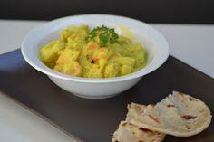 Kókusztejes zöldség curry, lepénykenyérrel