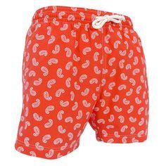 Jules - Maillot short de bain homme rouge cachemire - Les Loulous de la  plage f0a0a4a33f56