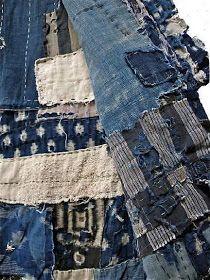 close-up, interior of boro kimono stitched together with sashiko method. Sashiko Embroidery, Japanese Embroidery, Hand Embroidery Patterns, Embroidery Needles, Embroidery Kits, Embroidery Books, Stitching Patterns, Embroidery Supplies, Embroidery Designs