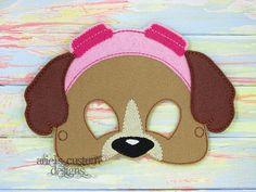 Skye Paw Patrol - Flying Dog Patrol - Felt Dress Up Mask - Birthday Party Favor Halloween by ArielsCustomDesigns on Etsy