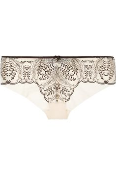 Palm Tree Breeze embroidered mesh briefs | Elle Macpherson Intimates