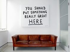 I feel like this so often...so many of my walls are just begging me for something and I just can't figure out what. :)