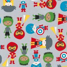 Tela FQ :: pequeños superhéroes :: von nosgustanlosretros auf DaWanda.com