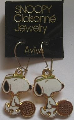Snoopy earrings - what a blast from the past.