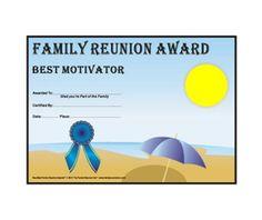 "Great idea for Family Reunion ""awards"" ....."