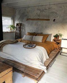Inspiring DIY Home Decor Tips – DecorativeAllure Room Ideas Bedroom, Home Decor Bedroom, Bedroom Modern, Loft Design, Bed Design, House Design, Pastel Room, Aesthetic Bedroom, Dream Rooms