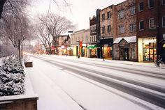 State College, PA - College Ave in Winter