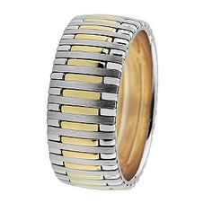 Royal Duet 18ct gold two colour 9mm wedding band http://www.weddingheart.co.uk/ernest-jones-wedding-rings.html
